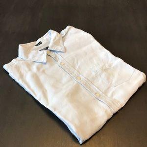 J. Crew Irish Linen shirt. Light blue, large.